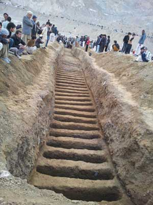 Mass-grave of Hazara's, show's that people suffering from long time ago and the exist with traffic valiance's in Afghanistan and Pakistan.