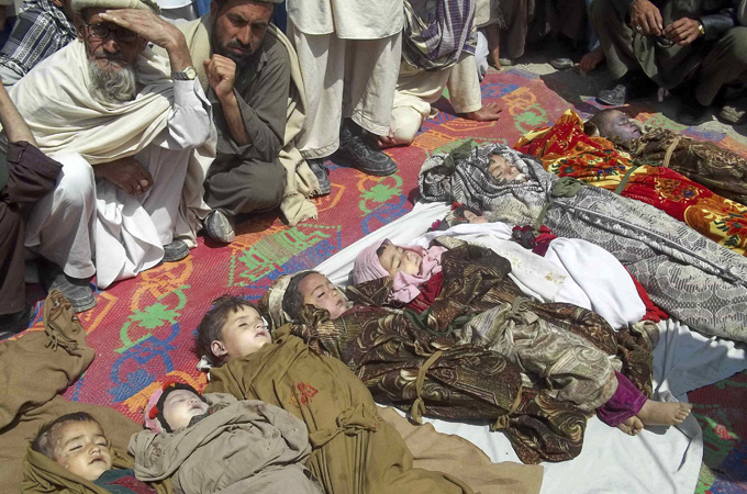 April 7, 2013: A NATO airstrike killed 10 children and 8 other people in eastern Kunar province of Afghanistan. (Photo: Reuters)