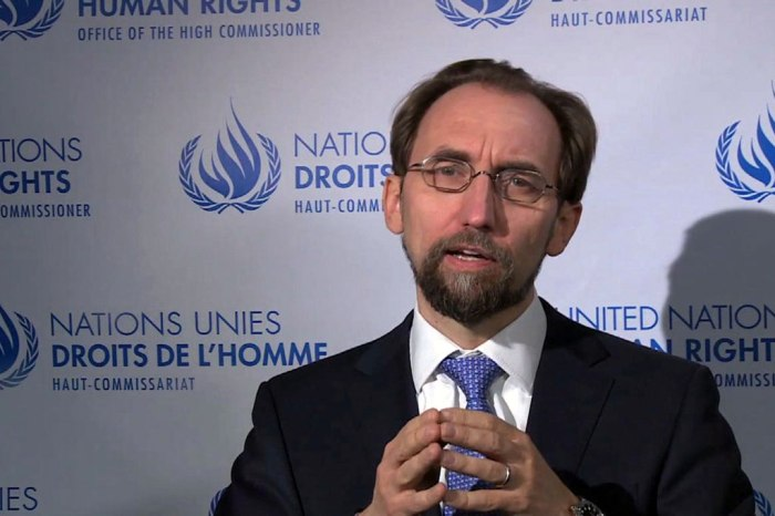 Said Zeid Ra'ad Al Hussein the United Nations High Commissioner for Human Rights